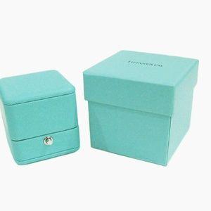 Tiffany & Co Blue  Engagement  Ring Box w/ case